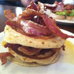 Stacks on stacks! Pancakes, bacon & lots…