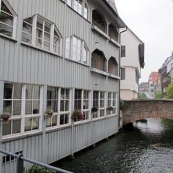 Typisches Gerberhaus an der Blau.