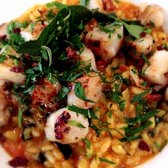 Queen scallop risotto