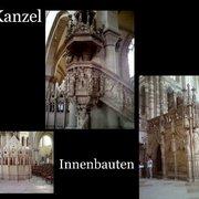 """Collage """"Kanzel und Innenbauten""""."""