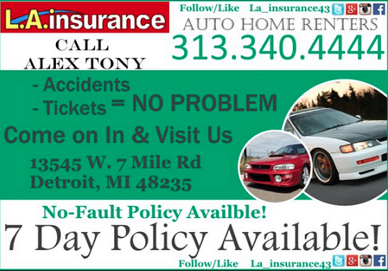 Image result for la insurance 7 day policy