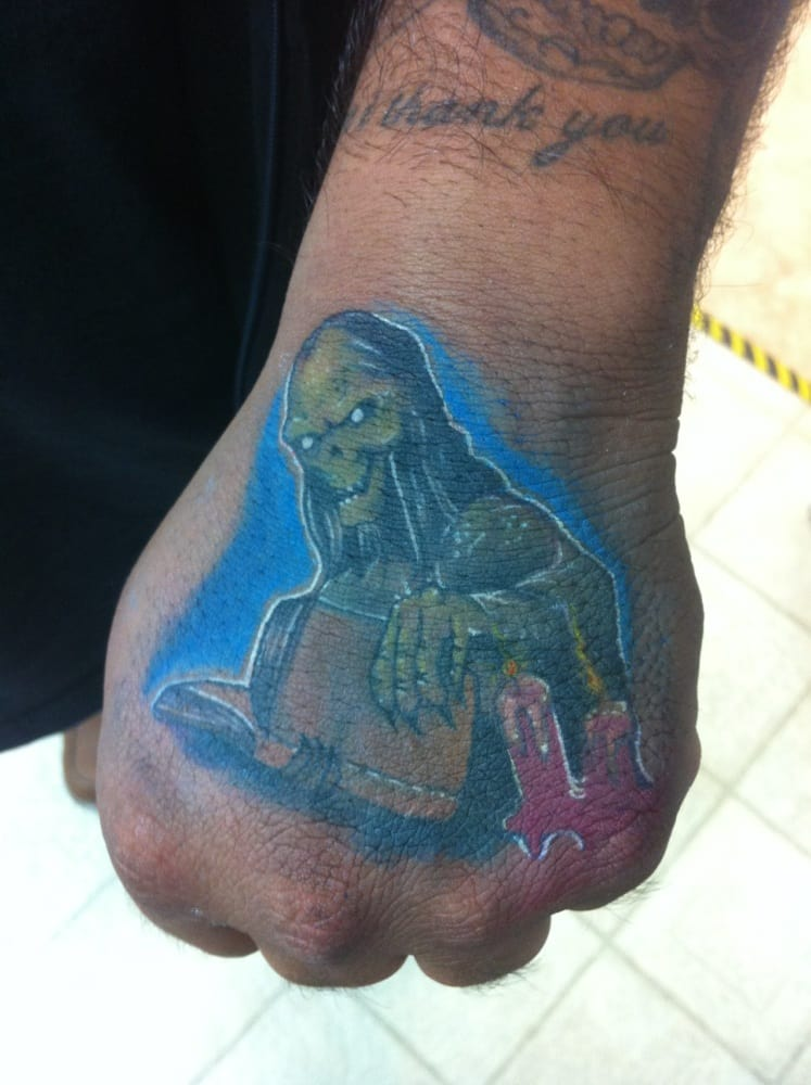 Cryptkeeper tattoo by chris tyler yelp for Electric ink tattoo