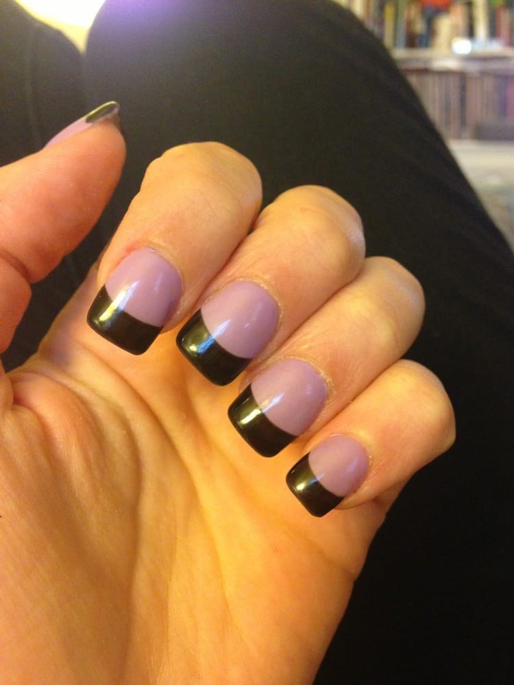 MC Nails - Black French tip gel manicure (refill) - Fairfax, VA