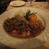 ... with crimini mushrooms marsala sauce and roast garlic mashed potatoes