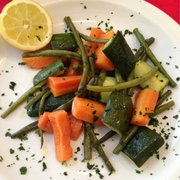 Warm garden vegetable salad - deliciously fresh and tasty!