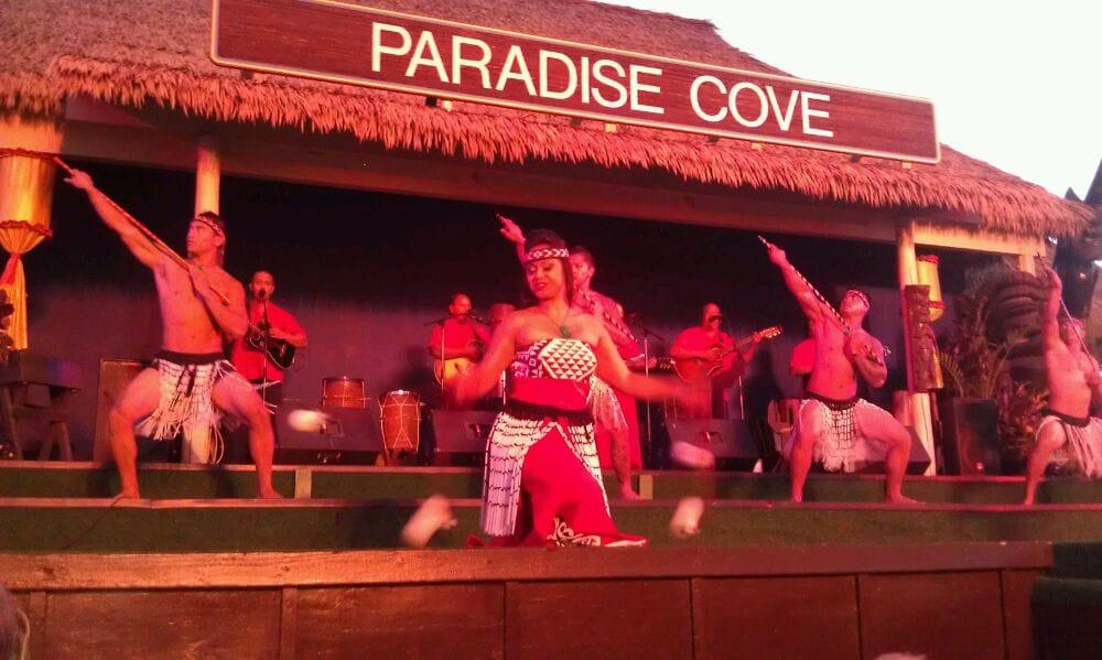 Dancers at the Paradise Cove luau.