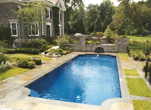Grecian swimming pool with diamond brite plaster in for Grecian swimming pool