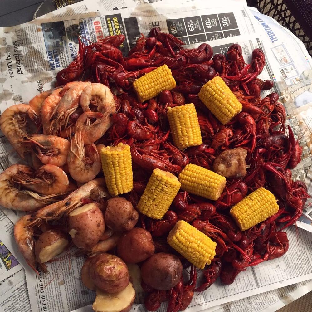 ... New Orleans, LA, United States. Shrimp, crawfish, corn and potatoes