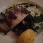 Sea bass fillet.