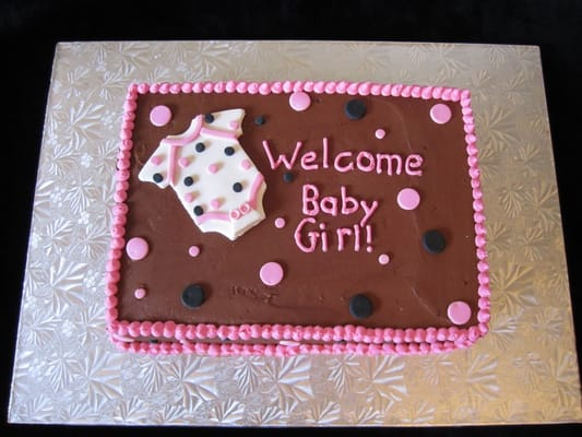 ... Rose - Baby Girl Baby Shower Cake - Cupertino, CA, United States