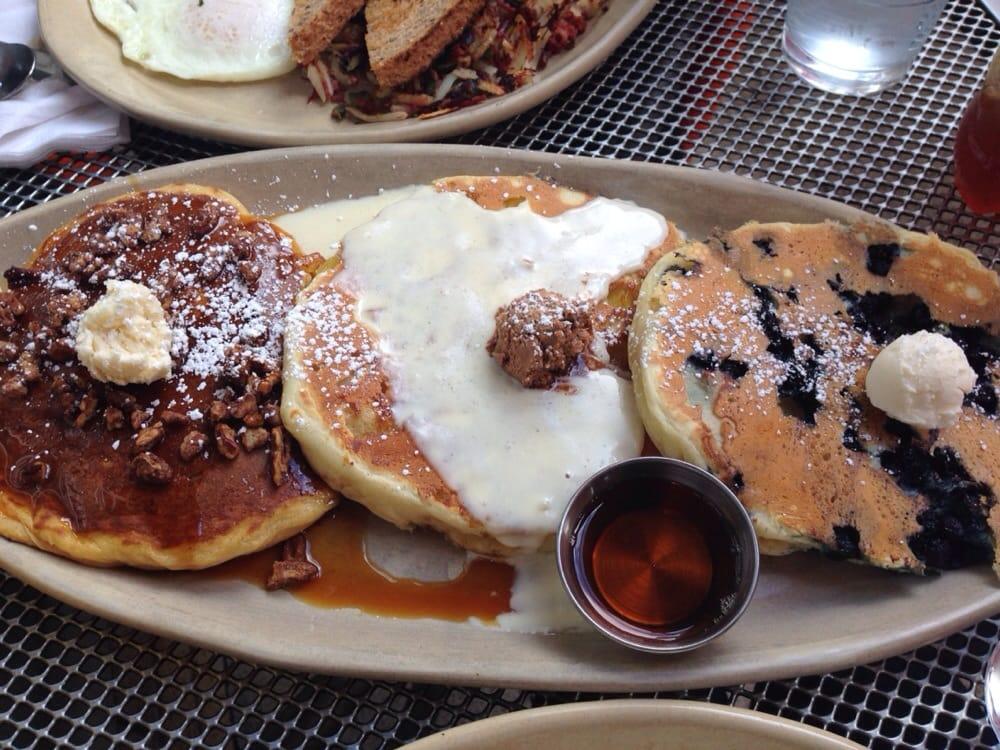 ... Pancake Flight: Sweet Potato, Upside Down Pineapple, & Blueberry (R to
