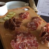 Osteria Rossa - Grand Rapids, MI, États-Unis. The house cured charcuterie.