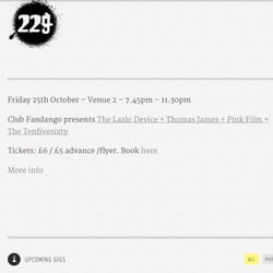 229 The Venue, Londres, London, UK