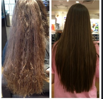 keratin smoothing treatment by amy sapia smooths hair and