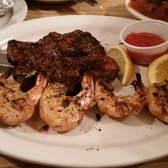 Perky's Restaurant - Filet mignon an grilled shrimp. - Altavista, VA, United States