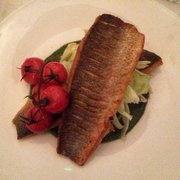 Sea bass with lovage sauce, fennel and…