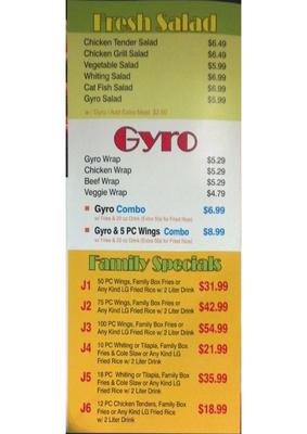 J Buffalo Menu J  buffalo wings menu page 4