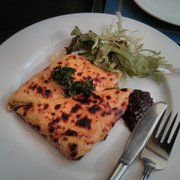 Welsh rarebit. This was delicious!