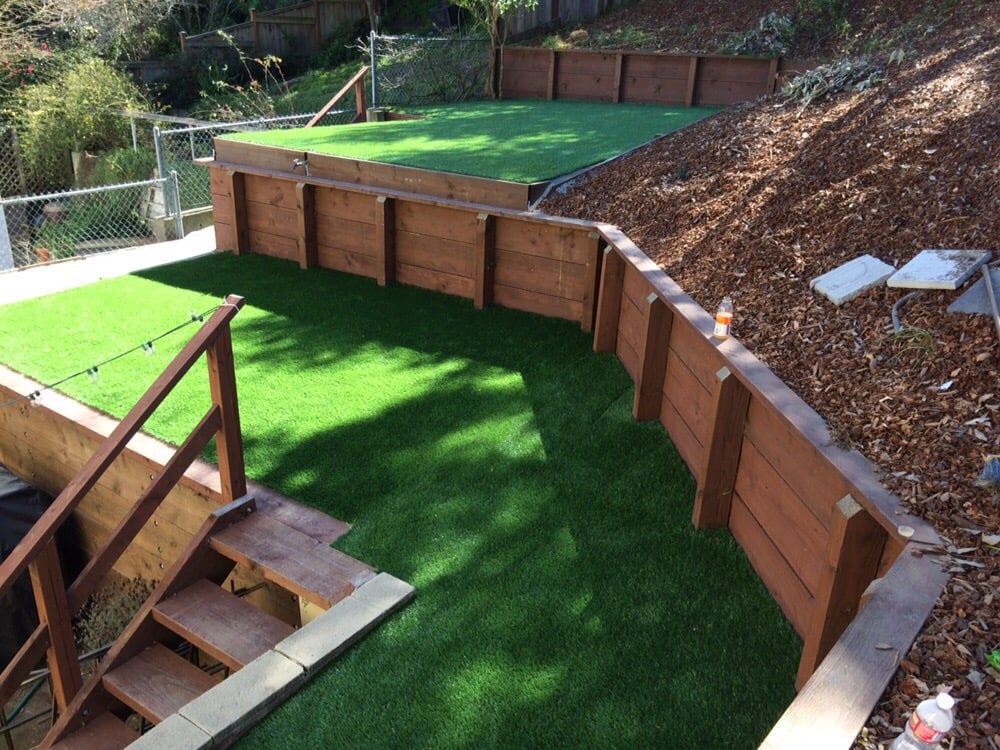 Retaining Wall And Synthetic Grass Yelp