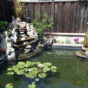 H&J Landscaping Services - pond with waterfall - Fremont, CA, United States