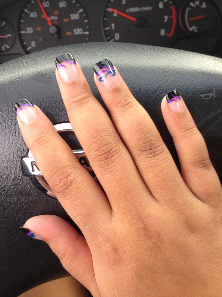 Black nail tip designs choice image nail art and nail design ideas acrylic nail designs black tips images nail art and nail design acrylic tip nail designs gallery prinsesfo Gallery