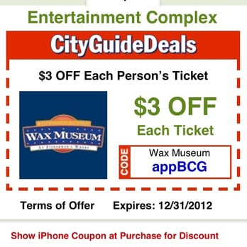 San francisco wax museum coupons