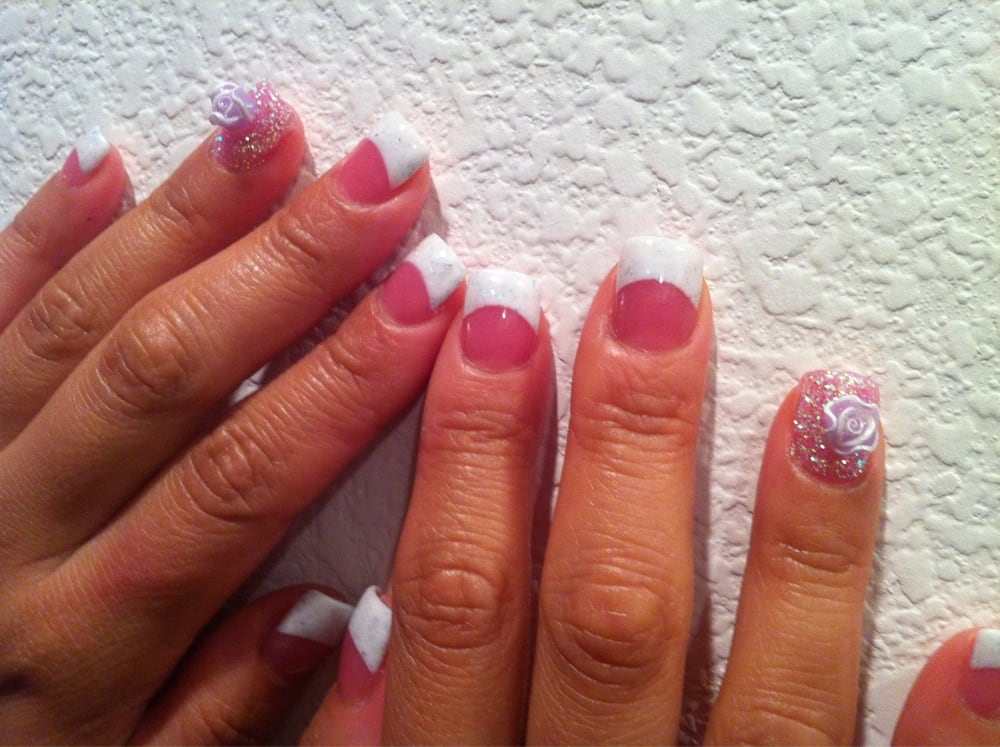 Sparkling White French Tips