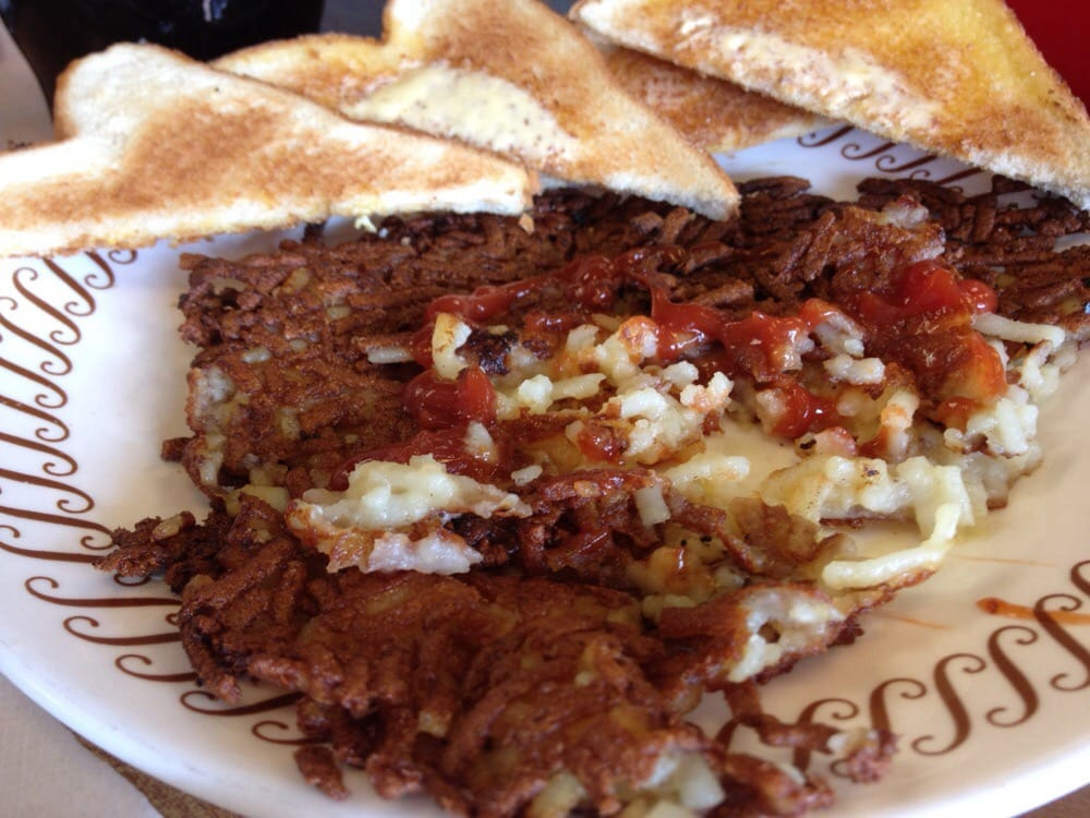 Waffle House Hash Browns All The Way Waffle House The Crisp Hash
