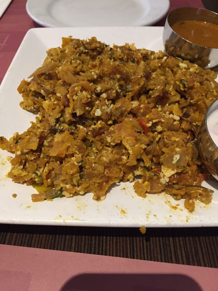 Egg porotta tastes just like egg bhurji you can pass for Anjappar chettinad south indian cuisine