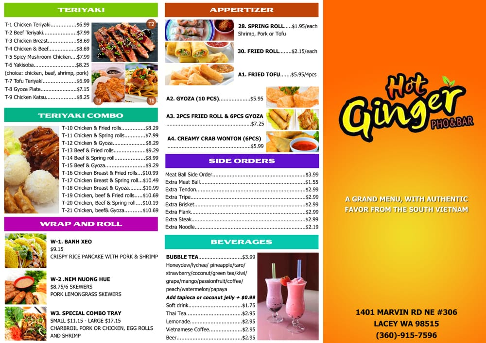 Lacey (WA) United States  city photos gallery : Hot Ginger Lacey, WA, United States. take out menu