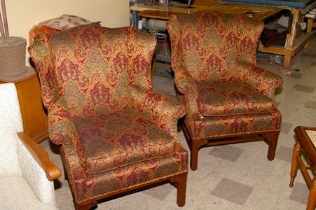 These Two Wingbacks Were Made In Milwaukee In The 1940s
