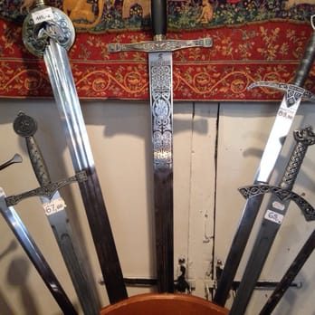 Swords from a store in Perouges