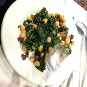 Garbanzo beans, spinach & bacon... So yummy