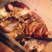 Roast pork and roast pork belly - takeaway. Just as good and portion size - GREAT!