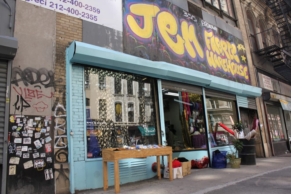 Jem fabric warehouse closed fabric stores tribeca for Fabric outlet near me