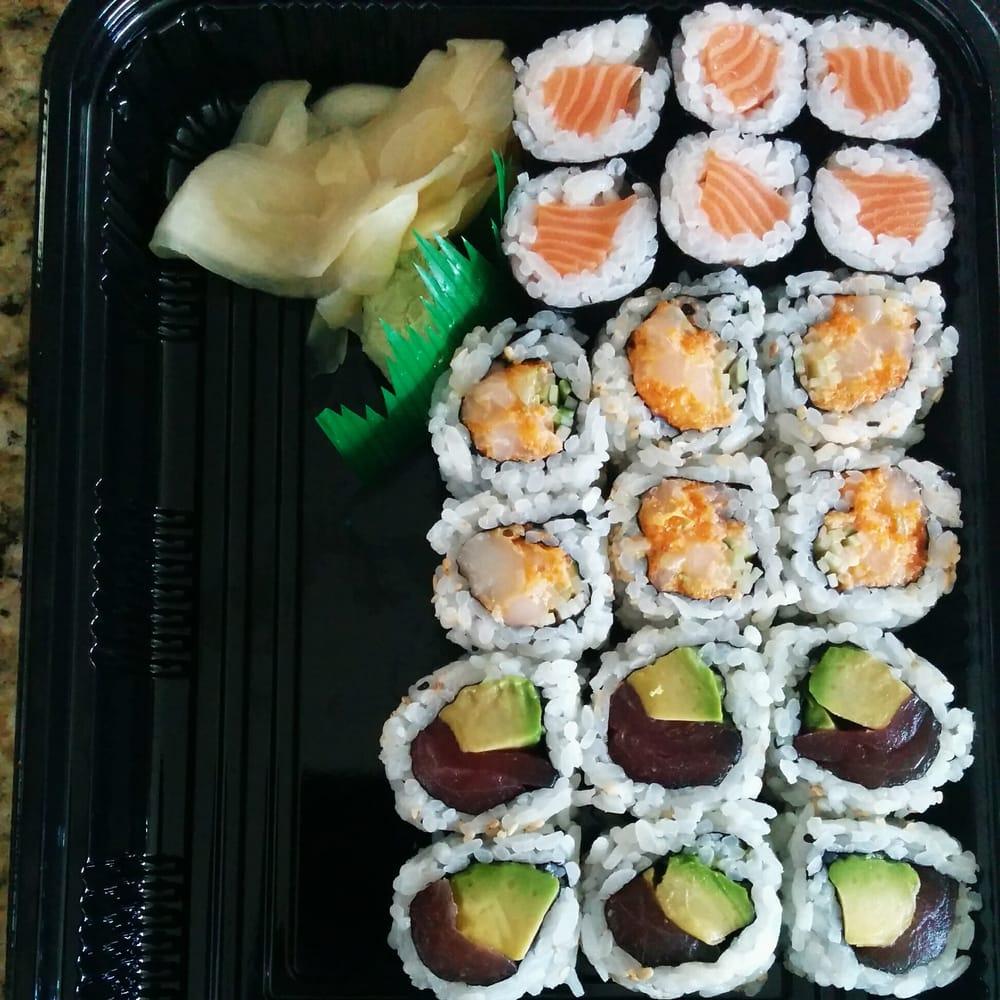 ... States. Salmon Roll, Spicy Scallop Roll (Yum), and Tuna & Avocado Roll