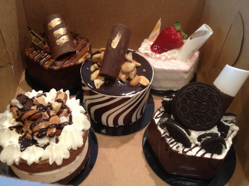 ... chocolate caramel cake, peanut butter cake, strawberry cake with white