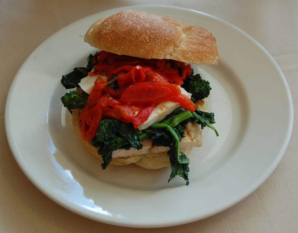 ... Rabe Panini- Grilled chicken, sautéed broccoli rabe, fresh mozzarella