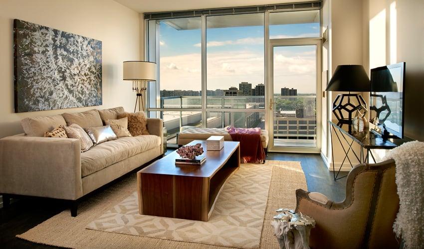 Model apartment home one bedroom plus den yelp for One bedroom apartment with den