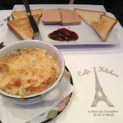 Onion Soup and Foie Gras with toast and jam