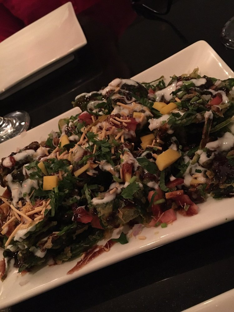 Palak chaat was delicious yelp for 7 spice indian cuisine