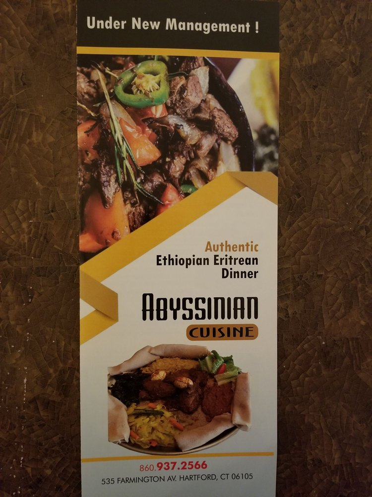 Abyssinian Ethiopian Restaurant: 533 Farmington Ave, Hartford, CT