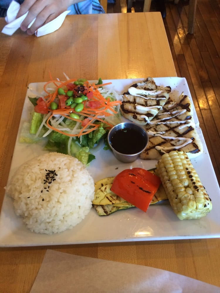 Halibut plate with lemon butter marinade yelp for Fish tale grill