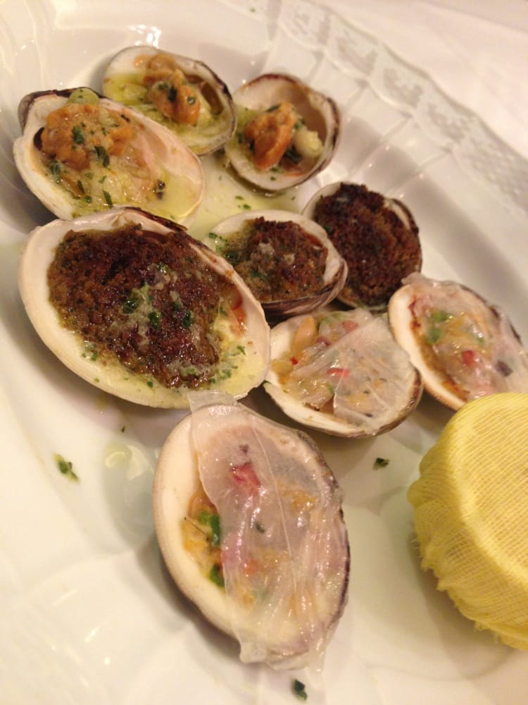 clams casino or. oreganata
