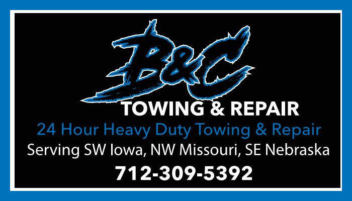 B & C Towing & Repair: 2830 226th St, Sidney, IA
