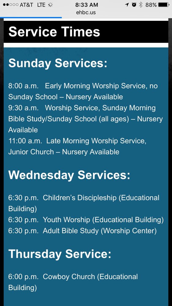 East Hartford Baptist Church: 1309 Clay St, Hartford, KY