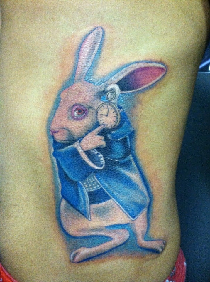 Alice (TX) United States  City pictures : Alice in Wonderland Bunny Rabbit, At Dallas Tattoo, Addison Texas ...