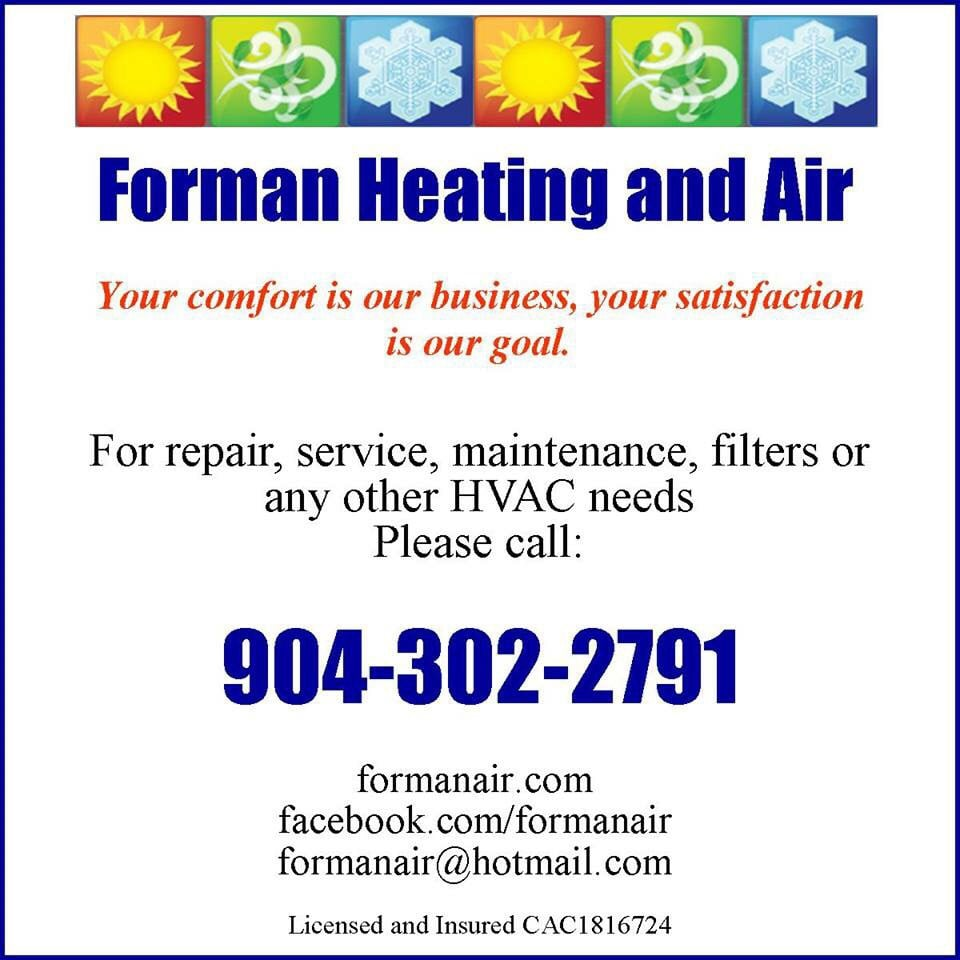 Forman Heating and Air: Jacksonville, FL