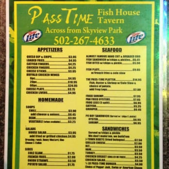 Fish House Restaurant Louisville Ky Menu