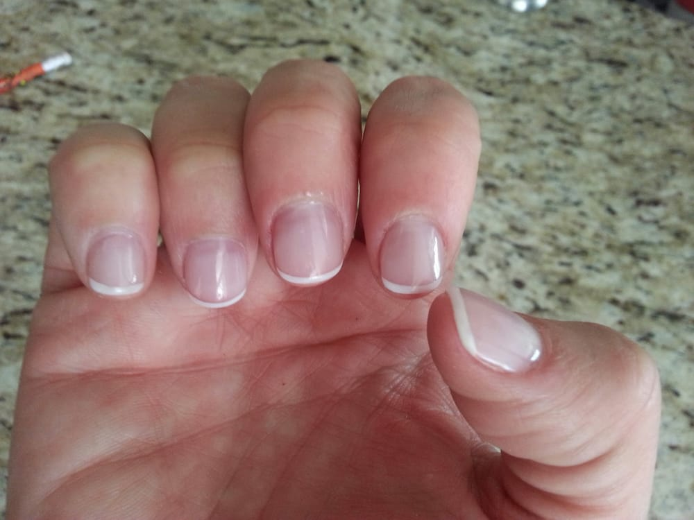 Natural looking, short, acrylic nails. Just like I like it. You can ...